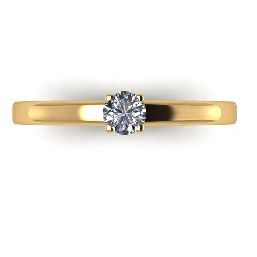 Годежен Пръстен жълто злато с диамант Fill 0,17 ct. 2014 a