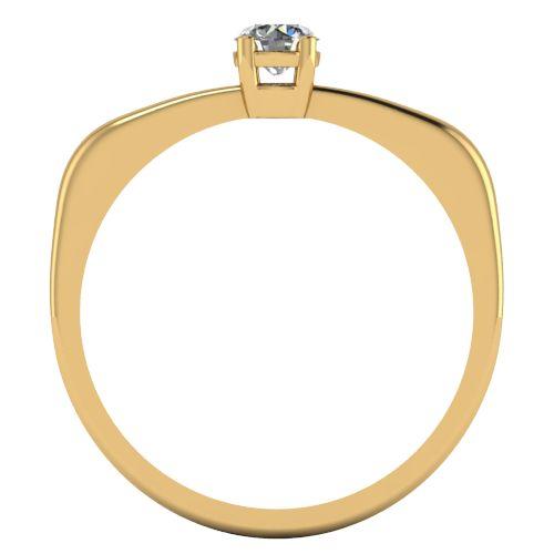 Годежен Пръстен жълто злато с диамант Fill 0,17 ct. 2014 b