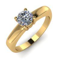 Годежен Пръстен жълто злато с диамант Fill 0,25 ct. 2017