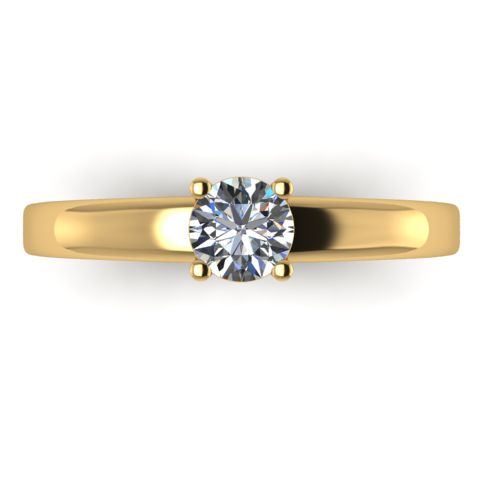 Годежен Пръстен жълто злато с диамант Fill 0,25 ct. 2017 a