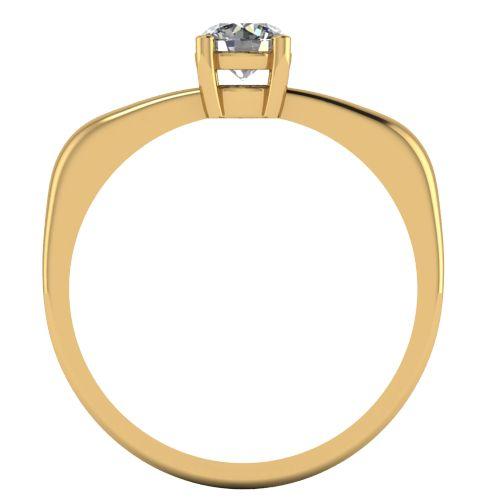 Годежен Пръстен жълто злато с диамант Fill 0,25 ct. 2017 b