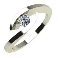 Годежен Пръстен бяло злато с диамант Date 0,12 ct. 636
