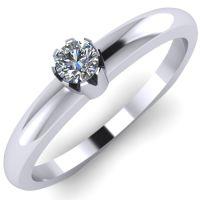 Годежен Пръстен бяло злато с диамант Flores 0,04 ct. 2024