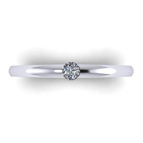 Годежен Пръстен бяло злато с диамант Flores 0,04 ct. 2024 a