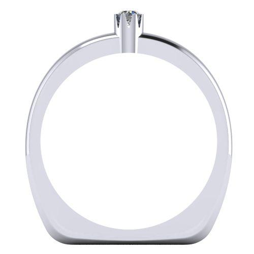 Годежен Пръстен бяло злато с диамант Flores 0,04 ct. 2024 B