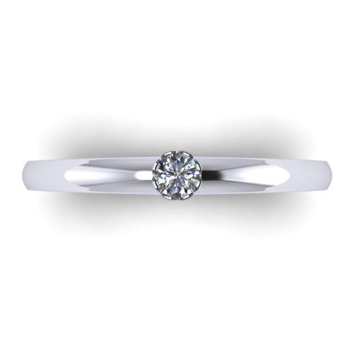 Годежен Пръстен бяло злато с диамант Flores 0,07 ct. 2025 a
