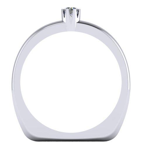 Годежен Пръстен бяло злато с диамант Flores 0,07 ct. 2025 b