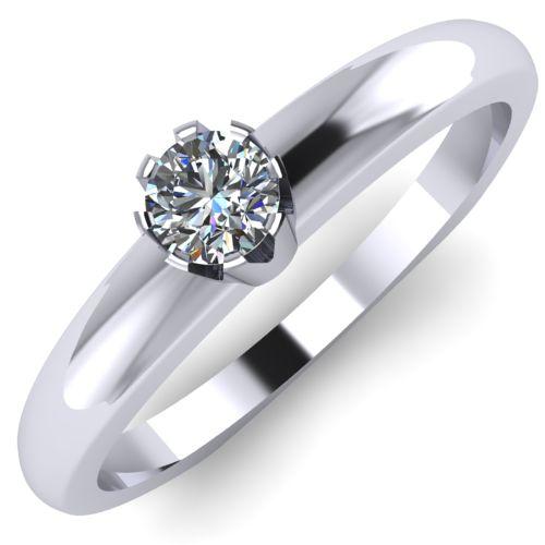 Годежен Пръстен бяло злато с диамант Flores 0,07 ct. 2025