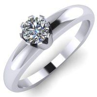 Годежен Пръстен бяло злато с диамант Flores 0,12 ct. 2026
