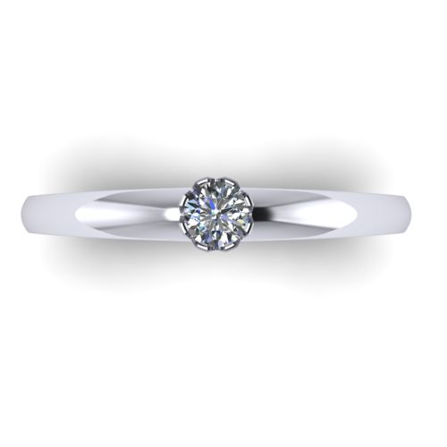 Годежен Пръстен бяло злато с диамант Flores 0,12 ct. 2026 a
