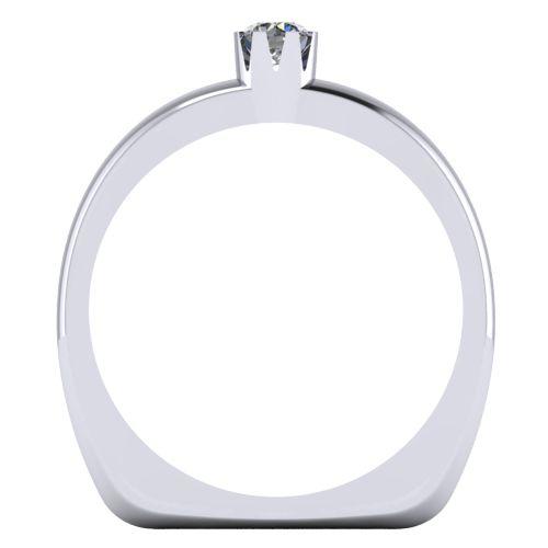 Годежен Пръстен бяло злато с диамант Flores 0,12 ct. 2026 b