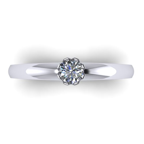 Годежен Пръстен бяло злато с диамант Flores 0,17 ct. 2027 A