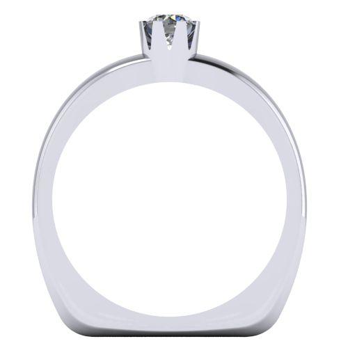 Годежен Пръстен бяло злато с диамант Flores 0,17 ct. 2027 b