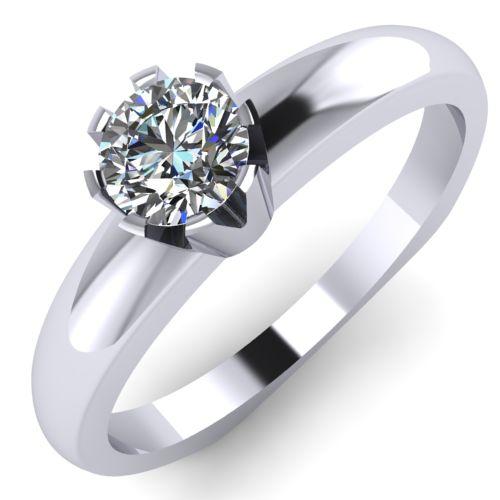 Годежен Пръстен бяло злато с диамант Flores 0,17 ct. 2027