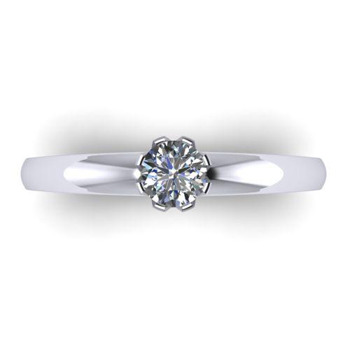 Годежен Пръстен бяло злато с диамант Flores 0,25 ct. 2028 a