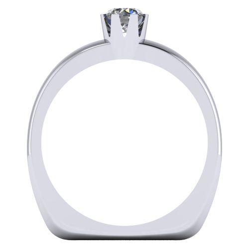 Годежен Пръстен бяло злато с диамант Flores 0,25 ct. 2028 b