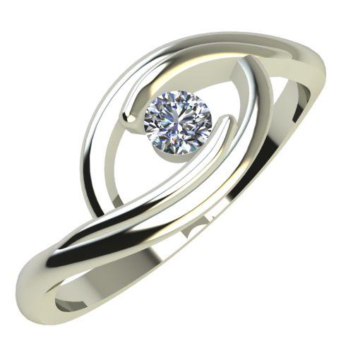 Годежен Пръстен бяло злато с диамант Mini 0,07 ct.637