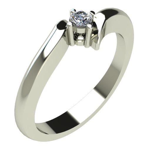 Годежен Пръстен бяло злато с диамант Open 0,04 ct. 303