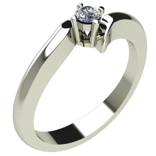 Годежен Пръстен бяло злато с диамант Open 0,07 ct. 299