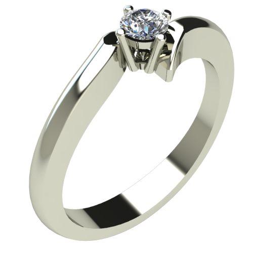Годежен Пръстен бяло злато с диамант Open 0,12 ct. 302