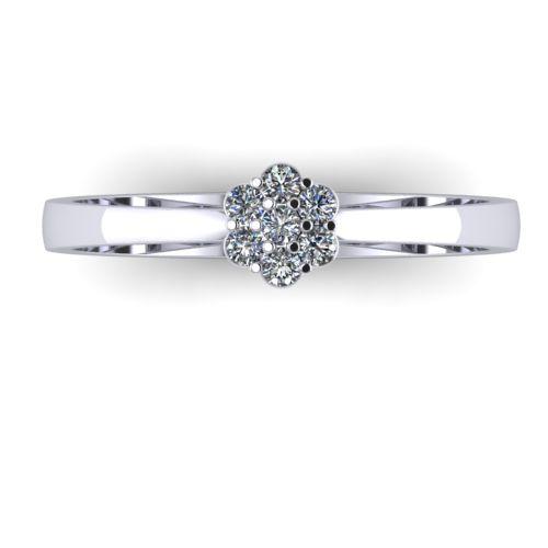 Годежен Пръстен бяло злато с диамант Snowy 0,09 ct. 2032 a