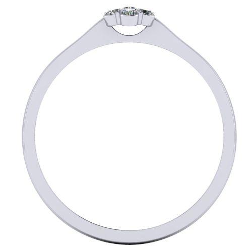 Годежен Пръстен бяло злато с диамант Snowy 0,09 ct. 2032 b