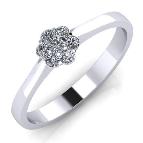 Годежен Пръстен бяло злато с диамант Snowy 0,09 ct. 2032