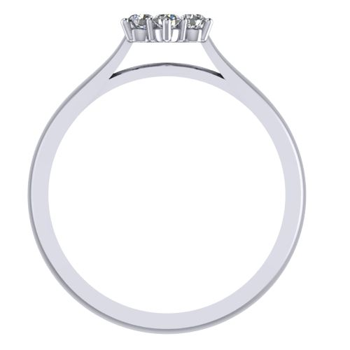 Годежен Пръстен бяло злато с диамант Snowy 0,13 ct. 2040 b