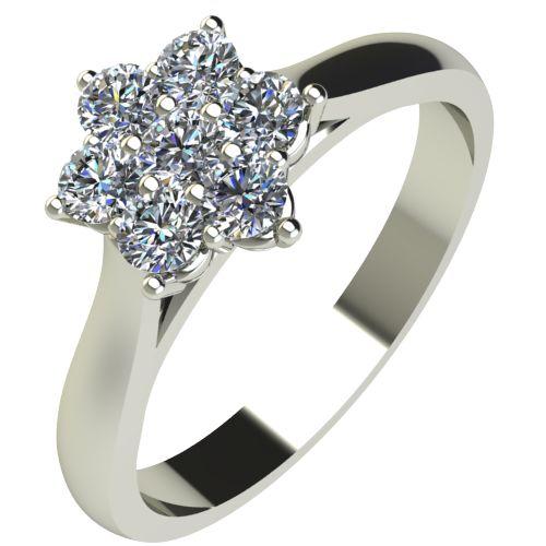Годежен Пръстен бяло злато с диамант Snowy 0,13 ct. 2040