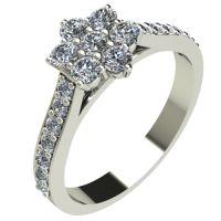 Годежен Пръстен бяло злато с диамант Snowy 0,37 ct. 2041