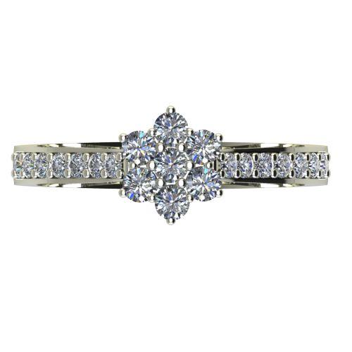 Годежен Пръстен бяло злато с диамант Snowy 0,37 ct. 2041 a