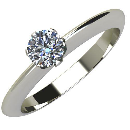 Годежен Пръстен бяло злато с диамант Tulip 0,12 ct. 2035