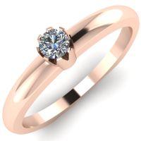 Годежен Пръстен розово злато с диамант Flores 0,04 ct. 2039