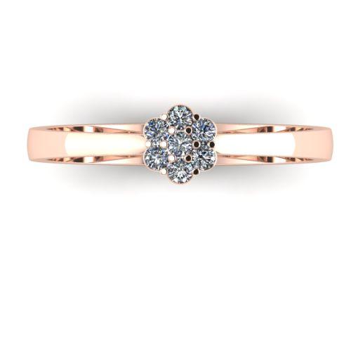 Годежен Пръстен розово злато с диамант Snowy 0,09 ct. 2033 а