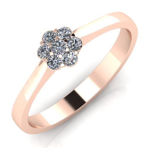 Годежен Пръстен розово злато с диамант Snowy 0,09 ct. 2033