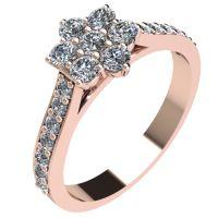 Годежен Пръстен розово злато с диамант Snowy 0,37 ct. 2045