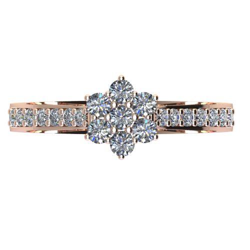 Годежен Пръстен розово злато с диамант Snowy 0,37 ct. 2045 a