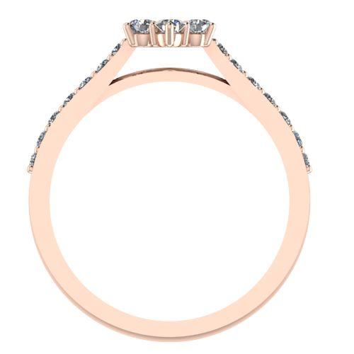 Годежен Пръстен розово злато с диамант Snowy 0,37 ct. 2045 b