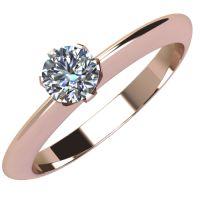 Годежен Пръстен розово злато с диамант Tulip 0,12 ct. 2037