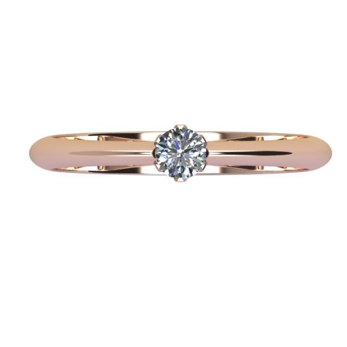 Годежен Пръстен розово злато с диамант Tulip 0,12 ct. 2037 a