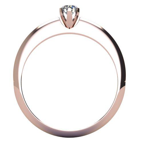 Годежен Пръстен розово злато с диамант Tulip 0,12 ct. 2037 b
