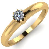 Годежен Пръстен жълто злато с диамант Flores 0,04 ct. 2031