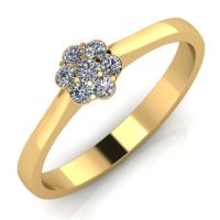 Годежен Пръстен жълто злато с диамант Snowy 0,105 ct. 2034