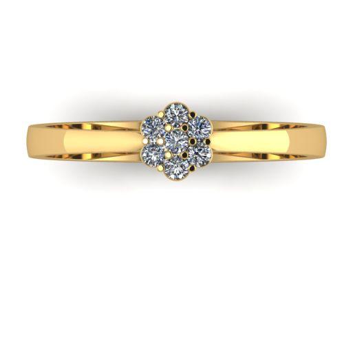 Годежен Пръстен жълто злато с диамант Snowy 0,09 ct. 2034 a
