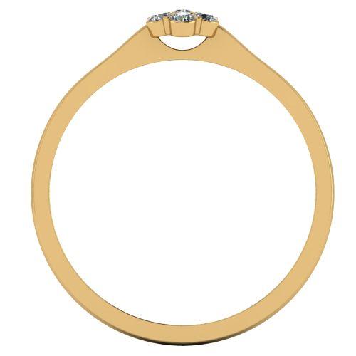Годежен Пръстен жълто злато с диамант Snowy 0,09 ct. 2034 b