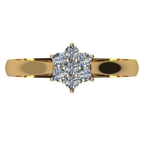 Годежен Пръстен жълто злато с диамант Snowy 0,13 ct. 2042 a