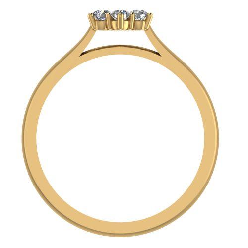 Годежен Пръстен жълто злато с диамант Snowy 0,13 ct. 2042 b