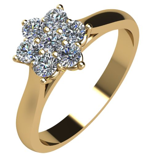 Годежен Пръстен жълто злато с диамант Snowy 0,13 ct. 2042