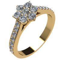 Годежен Пръстен жълто злато с диамант Snowy 0,37 ct. 2046