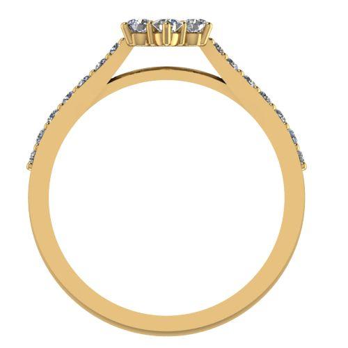 Годежен Пръстен жълто злато с диамант Snowy 0,37 ct. 2046 b